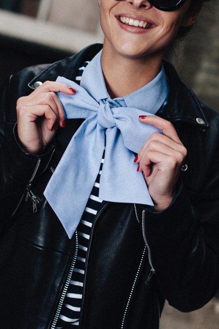Pussy Bow Blue