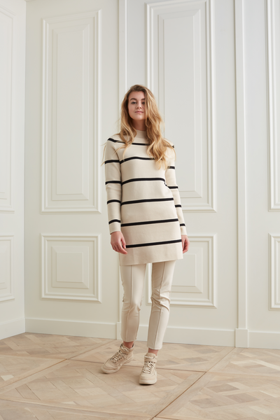 Knitted Dress Stripes