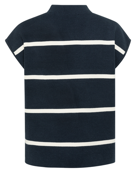 Striped Top with cap sleeves