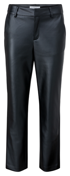 Faux Leather Chino black