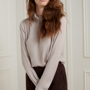 Top with Ruffle neck
